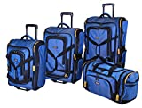 Lucas Luggage Accelerator 4-Piece Expandable Wheeled Duffel Set` (Blue)