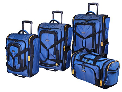 Lucas Luggage Accelerator 4-Piece Expandable Wheeled Duffel Set` (Blue) by Lucas