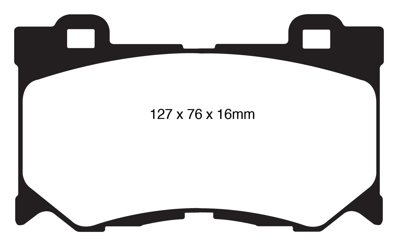 EBC Brakes DP31823C Redstuff Ceramic Low Dust Brake Pad