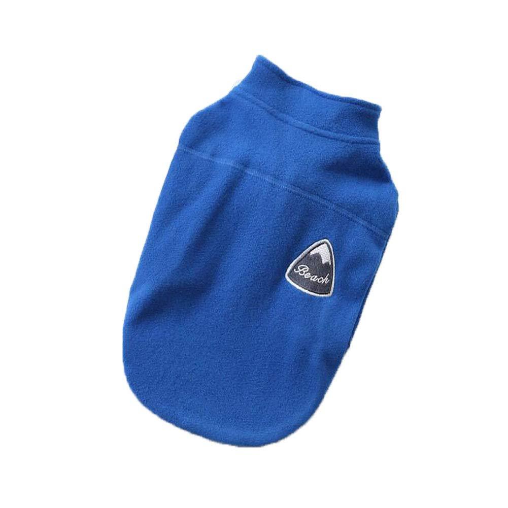 ZHENG Nuovo Casuale Cane Vestiti colore Tinta Lampo Cappotto Giacca Giacca Giacca Pet Cane Cappotto Cucciolo Costume,blu,L 47b338