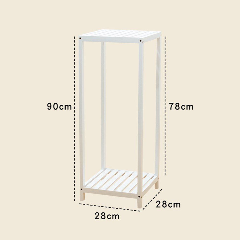 tutti i beni sono speciali LXLA- Espositore Espositore Espositore da terra in vaso in legno massello per soggiorno da terra (colore   Bianca, dimensioni   28×28×90cm)  fino al 60% di sconto