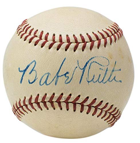 Autographed Babe Ruth Ball - Single OAL Harridge Graded 7 - PSA/DNA Certified - Autographed -