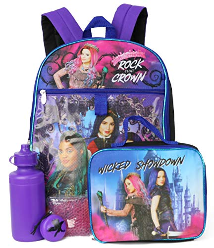 Disney Descendants 5-Piece Backpack Set - purple/multi, one size