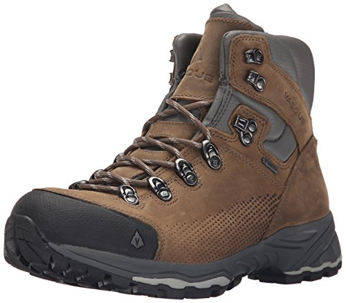 Vasque Men's St. Elias Gore-Tex Backpacking Boot, Bungee Cord/Neutral Gray,12 M US