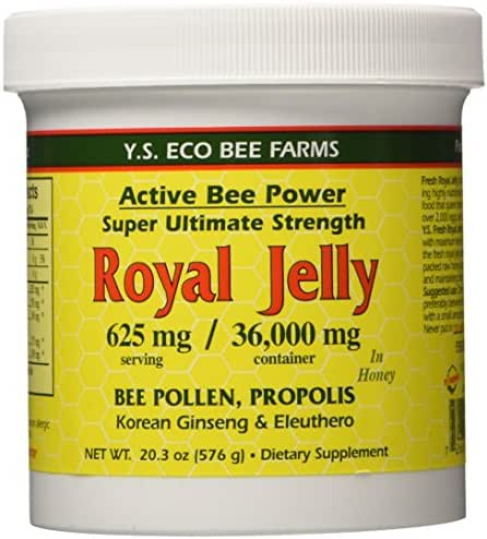 Fresh Royal Jelly + Bee Pollen, Propolis, Ginseng, Honey Mix - 36,000mg Y.S. Org 20.3 oz