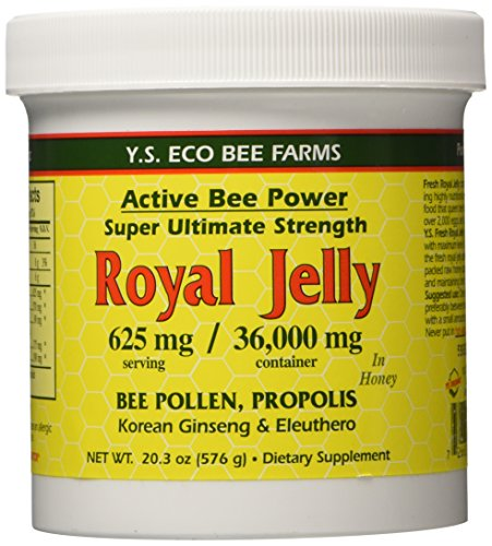 Fresh Royal Jelly - Fresh Royal Jelly + Bee Pollen, Propolis, Ginseng, Honey Mix - 36,000mg Y.S. Org 20.3 oz