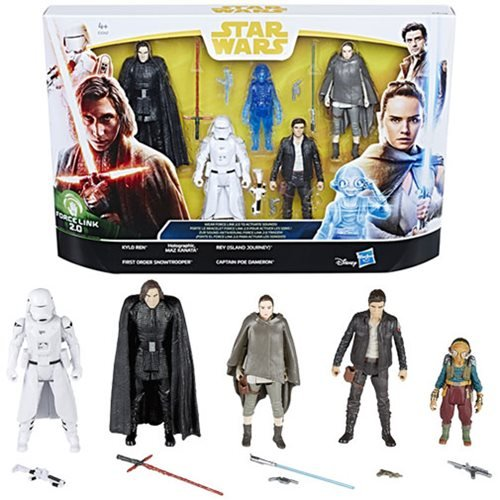SW Star Wars Force Link 2.0 The Last Jedi Figure 5-Pack Action Figures
