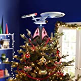Hallmark Keepsake 2020, Star Trek U.S.S. Enterprise Storytellers Musical Christmas Tree Topper With Light
