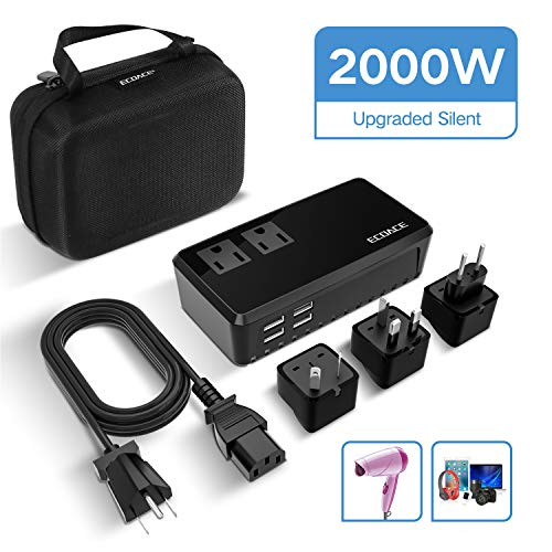 Ecoace 2000w Voltage Converter With 4 Usb Ports Set Down 220v To