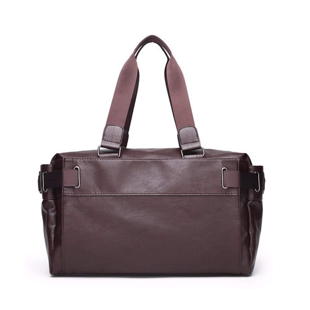 NDFSE-Herrentaschen Mens Bag Wear-Resistant Business Computer Bag Mens Briefcase Hand-held Slant Bag Banner,Brown