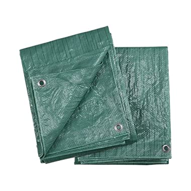 Ironton 2-Pack of Green Poly Tarps - 8ft. x 10ft.