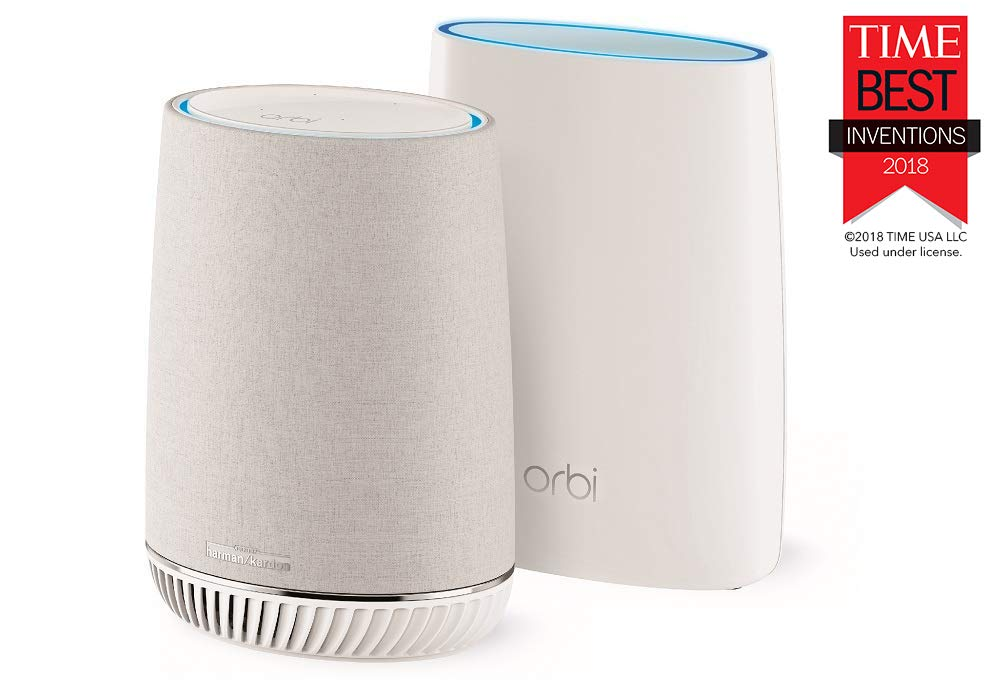 NETGEAR Orbi Voice Whole Home Mesh WiFi System - fastest WiFi router and  satellite extender with Amazon Alexa and Harman Kardon speaker built in,