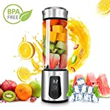 Personal Smoothie Blender,DOUHE Rechargeable Portable Blender Small Blender Mini USB Juicer Mixer -Shakes,Smoothies,Baby Food - Outdoor Travel Home Office,High Borosilicate Glass,BPA Free,Cordless