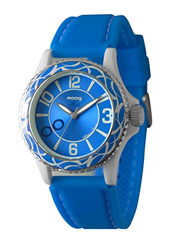 Moog Paris - Huit - Women's Watch with blue dial, blue strap in silicon - Made in France - M45524-007