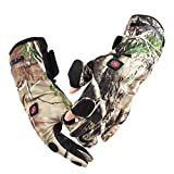 Morpilot Unisex Battery Power Heated Warm Gloves, Electric Rechargeable , 3 Temperature Control Levels up to 6 hours of warmth,for Outdoor Hiking Hunting Ski