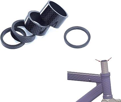 "5 20mm 15 10 3 Carbon Bike Headset Spacers 1-1//8/"" 10PCS Kit Set  2"