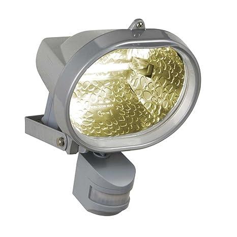 REV Ritter 0593035555 - Foco halógeno (ovalado, 230 W, sensor de movimiento)