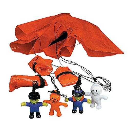 Fun Express Mini Halloween Character Paratroopers (Set of 48) Halloween Toys