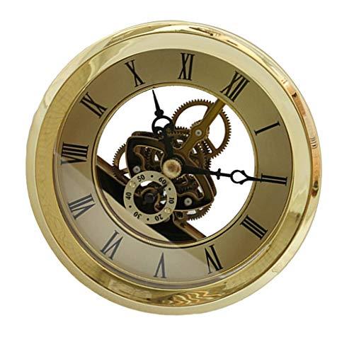 Pukido 103mm Dial Roman Numeral Skeleton Watch Quartz Clock Insert with Golden Trim