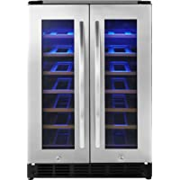 Deals on Insignia 42 Bottle/114 Can Dual Zone Wine and Beverage Cooler