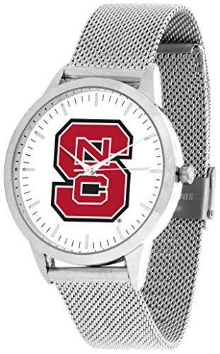 North Carolina State Wolfpack - Mesh Statement Watch - Silver Band