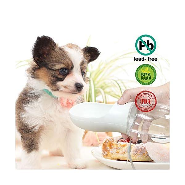 QQPETS Dog Water Bottle for Walking, Dispenser Pet Portable Dogs Cats 12OZ Travel Drink Bottle Bowls BPA Freee,Leak Proof,Food Grade 6