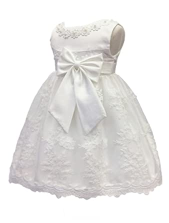 3a68dd0367f Image Unavailable. Image not available for. Color  H.X Baby Girl s Newborn  Bowknot Gauze Christening Baptism Dress Infant Flower Girls Wedding Dresses  ...