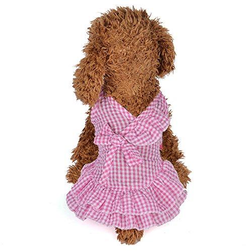 callm Dog Clothes 2019 New Summer Lattice Sling Dress Dog Puppy Costumes Pet Clothes ()