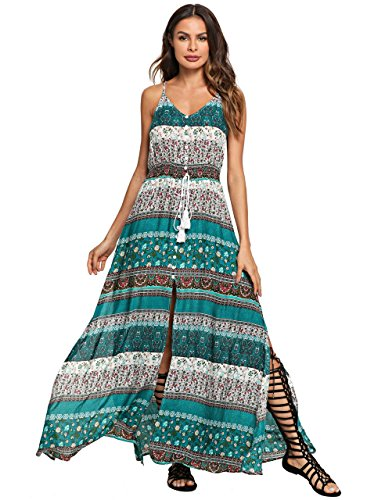 Multi Wear Long Dress - Floerns Women's Sleeveless Sundress Beach Maxi Long Dress Multi-6 M
