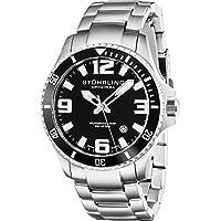 Men's 395.33B11 Aquadiver Regatta Analog Swiss Quartz Stainless Steel Link Bracelet Watch