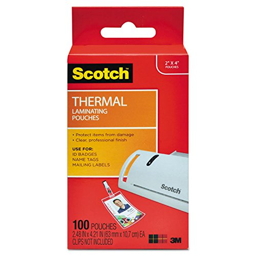 (Brother 3M ID Badge Size Thermal Laminating Pouch, 5 mil, 4X 2, 100/Pack (TP5852100))