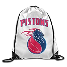 Zhanzy Detroit Pistons 2 Large Drawstring Sport Backpack Sack Bag Sackpack