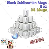 36X Blank Coffee Mug Cup Heat Press Sublimation Printing