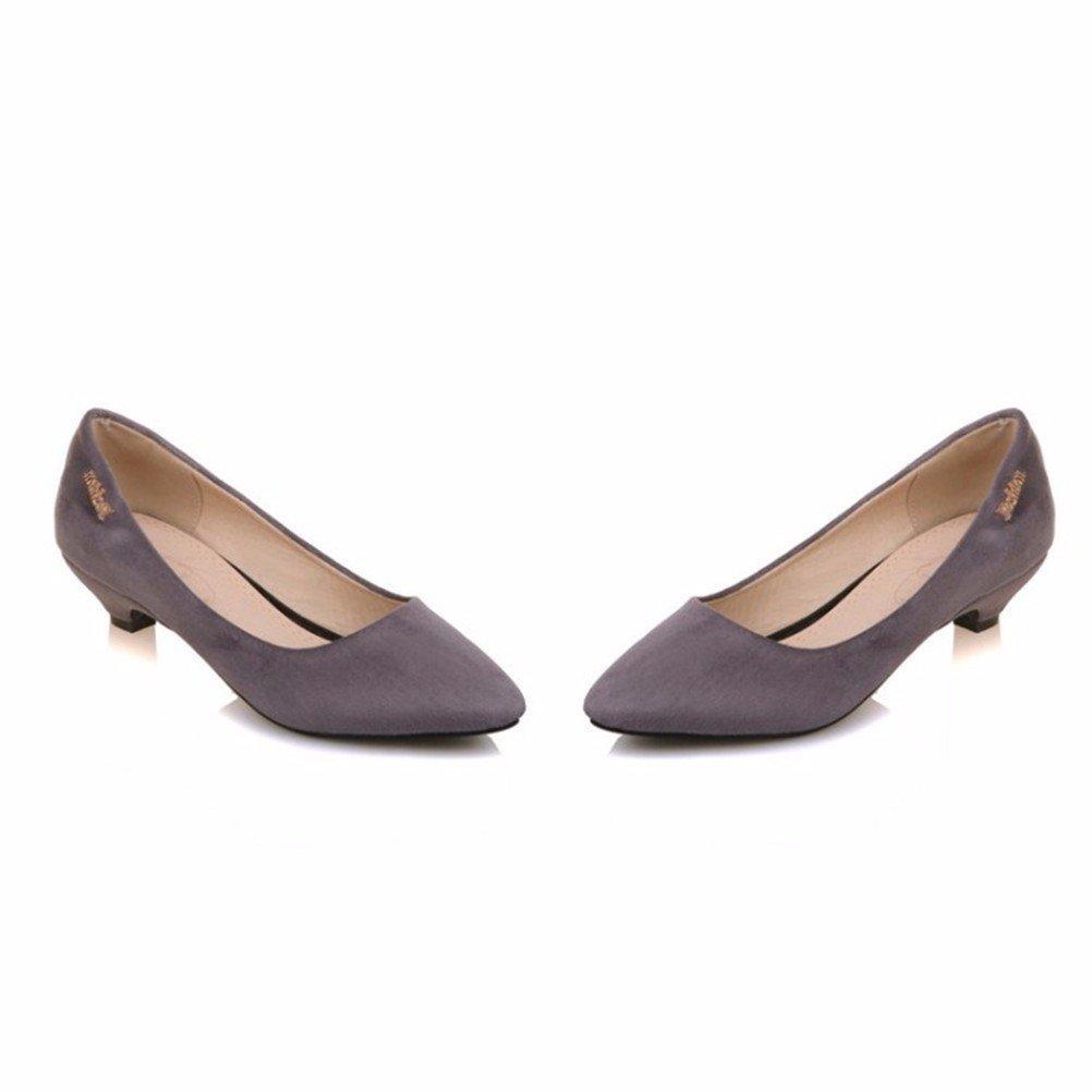 Der Big Size Damen Schuhe, Metallteile, flache Schuhe, Frauen Ferse suede shoes, Rotwein, 40