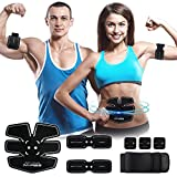 IMATE Abs Trainer Electronic Muscle Stimulator Abdominal Toning Belt Core Training Body Fitness Training Machine Waist Trainer Gym Workout And Home Fitness Apparatus For Men and Women(With USB Line)