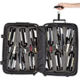 Bundle - 2 items: VinGardeValise 12 Bottle Wine Travel Suitcase, FlyWithWine Digital Luggage Scale - Burgundy