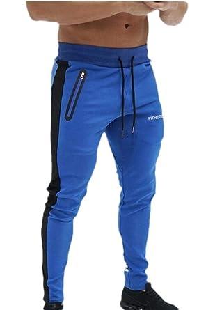 SOWTKSL - Pantalones de chándal para Hombre, Ajustados, cómodos ...
