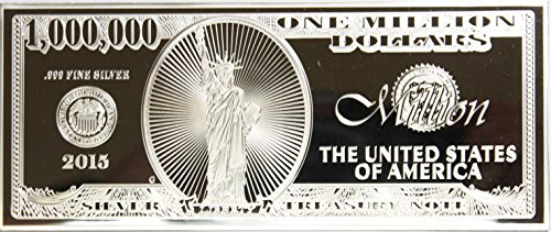 2015 1 Troy Oz. Million Dollar Silver Note with COA in Plastic Holder $1,000,000 Proof