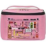 Derrière la porte - Beauty case, kit di sopravvivenza, colore: rosa