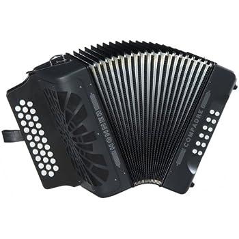 Hohner Compadre G/C/F 3-Row Diatonic Accordion - Black