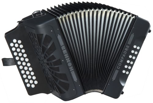 Hohner Compadre G/C/F 3-Row Diatonic Accordion - Black