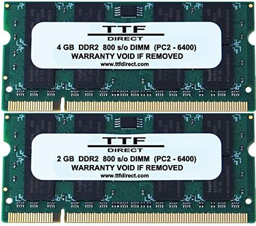 4GB + 2GB DDR2 800 6GB KIT SODIMM by TTF Direct PC2-6400