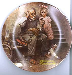 """""""The Cobbler"""" Collector Plate by Norman Rockwell"""