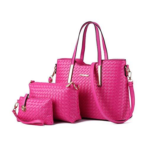 Tisdain Nuovo modello Femminile Borsa a mano Moda Portafoglio tessere Set di 4 borse Borsa messenger Rose