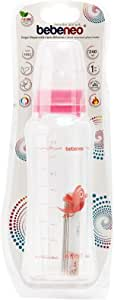 Bebeneo Heat Resistant Glass Bottle 240 Ml_1452 Pink