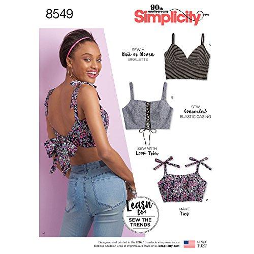 Simplicity Creative Patterns US8549A Sewing Pattern Tops, Vest, JKTS, Coats, A (A (XXS-XS-S-M-L-XL-XXL)