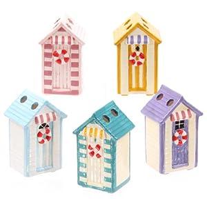 1 X Ceramic Beach Hut Toothbrush Holder Kitchen Home