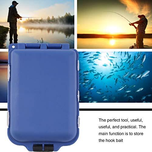 Migvela 10 Compartimentos Caja de Almacenamiento Caja Pesca con Mosca Se/ñuelo Cuchara Gancho Cebo Caja Caja Accesorios para la Pesca Azul