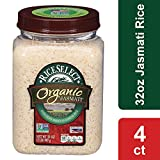 RiceSelect Organic Jasmati Rice, 32-Ounce (Pack of 4)