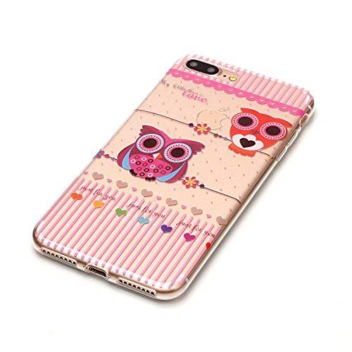 iPhone 8 Plus Hülle,Nette Tiere Premium Handy Tasche Schutz Transparent Schale Für Apple iPhone 8 Plus + Zwei Geschenk